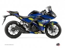 Kit Déco Moto Flow Yamaha R3 Jaune
