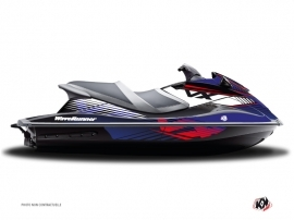 Yamaha VXR-VXS Jet-Ski Flow Graphic Kit Red