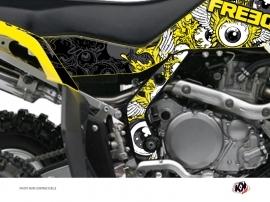 Kit Déco Protection de cadre Quad Freegun Suzuki 450 LTR Jaune