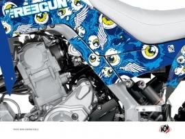 Kit Déco Protection de cadre Quad Freegun Yamaha 700 Raptor 2013-2016 Bleu