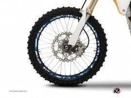 Kit Déco Tour de jantes Moto Cross Freegun Bleu