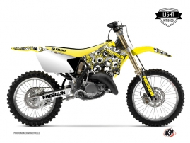 Suzuki 125 RM Dirt Bike Freegun Eyed Graphic Kit Yellow LIGHT