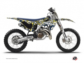 Kit Déco Moto Cross Freegun Eyed Husqvarna TC 125 Bleu Jaune