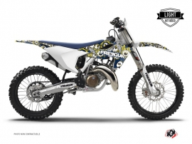 Kit Déco Moto Cross Freegun Eyed Husqvarna TC 125 Bleu Jaune LIGHT