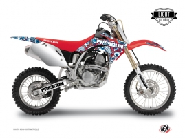 Kit Déco Moto Cross Freegun Honda 125 CR Rouge Bleu LIGHT