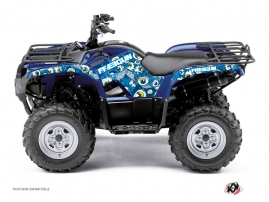 Yamaha 125 Grizzly ATV Freegun Eyed Graphic Kit Blue