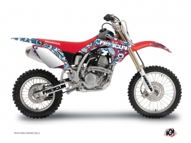 Kit Déco Moto Cross Freegun Eyed Honda 150 CRF Rouge Bleu