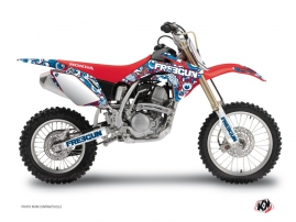 Honda 150 CRF Dirt Bike Freegun Eyed Graphic Kit Red