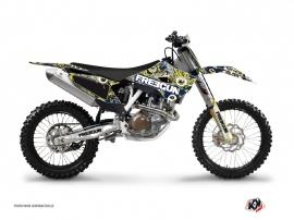 Kit Déco Moto Cross Freegun Husqvarna FC 250 Bleu Jaune