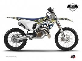 Husqvarna FC 250 Dirt Bike Freegun Eyed Graphic Kit Blue Yellow LIGHT