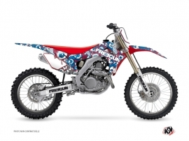 Honda 250 CRF Dirt Bike Freegun Eyed Graphic Kit Red