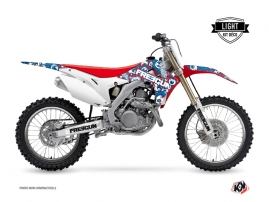 Kit Déco Moto Cross Freegun Eyed Honda 250 CRF Rouge LIGHT