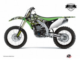 Kawasaki 250 KXF Dirt Bike Freegun Eyed Graphic Kit Green LIGHT