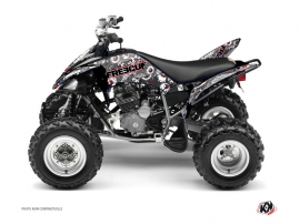 Yamaha 250 Raptor ATV Freegun Eyed Graphic Kit Red