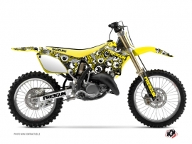 Suzuki 250 RM Dirt Bike Freegun Eyed Graphic Kit Yellow