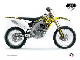 Suzuki 250 RMZ Dirt Bike Freegun Eyed Graphic Kit Yellow LIGHT