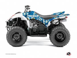 Yamaha 350-450 Wolverine ATV Freegun Eyed Graphic Kit Blue