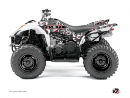 Yamaha 350-450 Wolverine ATV Freegun Eyed Graphic Kit Red
