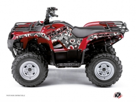 Yamaha 350 Grizzly ATV Freegun Eyed Graphic Kit Red