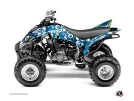 Kit Déco Quad Freegun Eyed Yamaha 350 Raptor Bleu