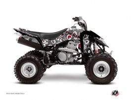 Suzuki 400 LTZ IE ATV Freegun Eyed Graphic Kit Grey Red
