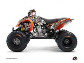 KTM 450-525 SX ATV Freegun Eyed Graphic Kit Grey Orange