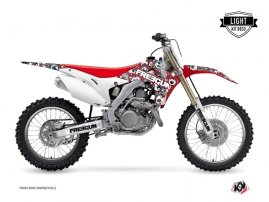 Kit Déco Moto Cross Freegun Eyed Honda 450 CRF Rouge Bleu LIGHT