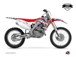 Kit Déco Moto Cross FREEGUN Honda 450 CRF Rouge Bleu LIGHT