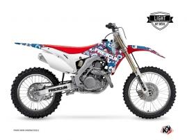 Honda 450 CRF Dirt Bike Freegun Eyed Graphic Kit Red LIGHT