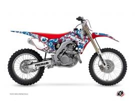 Honda 450 CRF Dirt Bike Freegun Eyed Graphic Kit Red