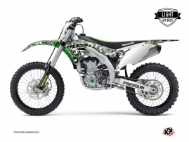 Kawasaki 450 KXF Dirt Bike Freegun Eyed Graphic Kit Green LIGHT