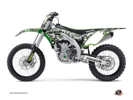Kawasaki 450 KXF Dirt Bike Freegun Eyed Graphic Kit Green