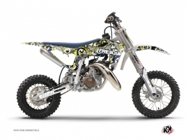 Kit Déco Moto Cross Freegun Eyed Husqvarna TC 50 Bleu Jaune