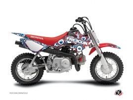 Kit Déco Moto Cross Freegun Eyed Honda 50 CRF Rouge Bleu