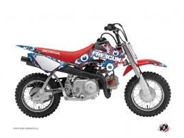 Kit Déco Moto Cross Freegun Eyed Honda 50 CRF Rouge