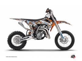KTM 50 SX Dirt Bike FREEGUN Graphic kit Orange