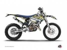 Kit Déco Moto Cross Freegun Husqvarna 501 FE Bleu Jaune