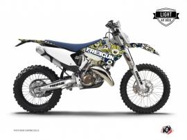 Kit Déco Moto Cross Freegun Eyed Husqvarna 501 FE Bleu Jaune LIGHT