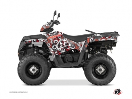 Kit Déco Quad Freegun Eyed Polaris 570 Sportsman Forest Rouge Gris