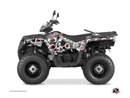 Kit Déco Quad Freegun Eyed Polaris 570 Sportsman Touring Gris Rouge