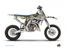Kit Déco Moto Cross Freegun Eyed Husqvarna TC 65 Bleu Jaune
