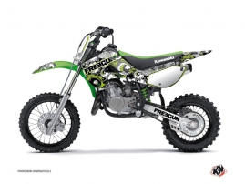 Kit Déco Moto Cross Freegun Eyed Kawasaki 65 KX Vert
