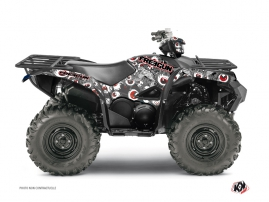 Yamaha 700-708 Grizzly ATV Freegun Eyed Graphic Kit Red