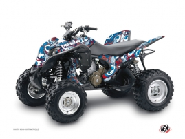 Honda 700 TRX ATV Freegun Eyed Graphic Kit Red