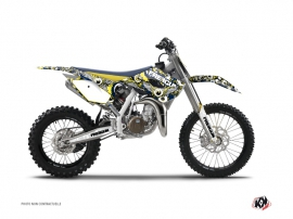 Kit Déco Moto Cross Freegun Eyed Husqvarna TC 85 Bleu Jaune