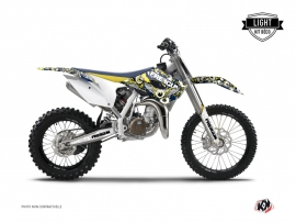 Kit Déco Moto Cross Freegun Husqvarna TC 85 Bleu Jaune LIGHT