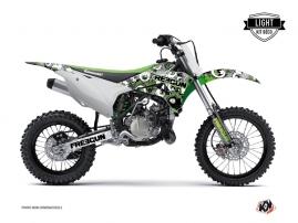 Kit Déco Moto Cross Freegun Eyed Kawasaki 85 KX Vert LIGHT