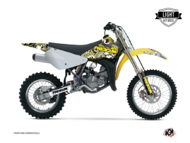Suzuki 85 RM Dirt Bike Freegun Eyed Graphic Kit Yellow LIGHT