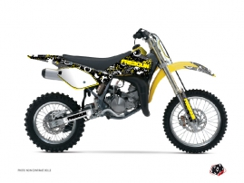 Suzuki 85 RM Dirt Bike Freegun Eyed Graphic Kit Yellow