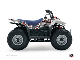 Kit Déco Quad Freegun Eyed Suzuki 90 LTZ Gris Rouge